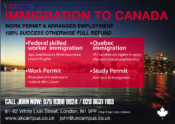 UK Campus – Flyer designed for foreign students