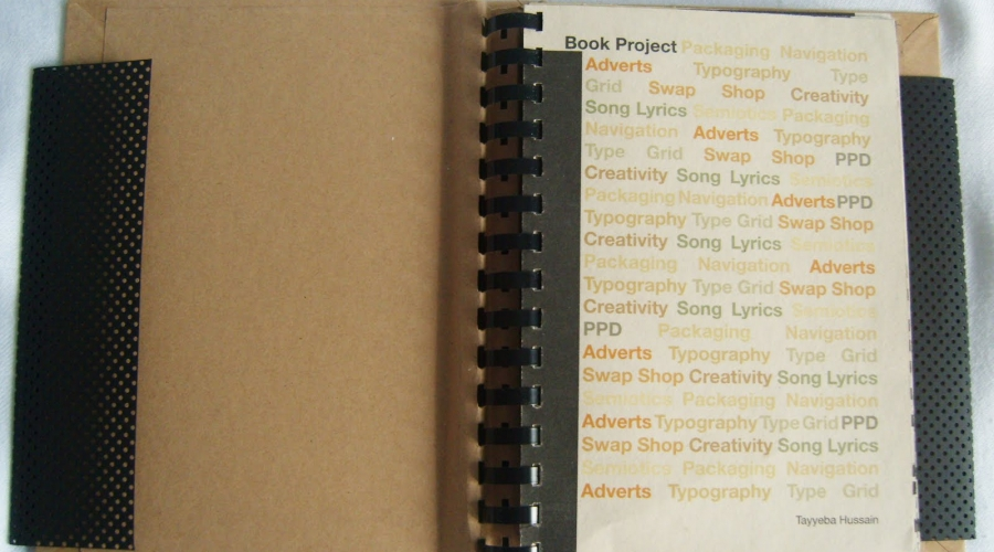 University Project: Research Book – 10 session captured in a book