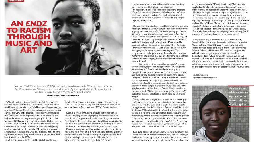 SLIK Magazine: Issue 2 – Stephen Lawrence Instills Knowledge