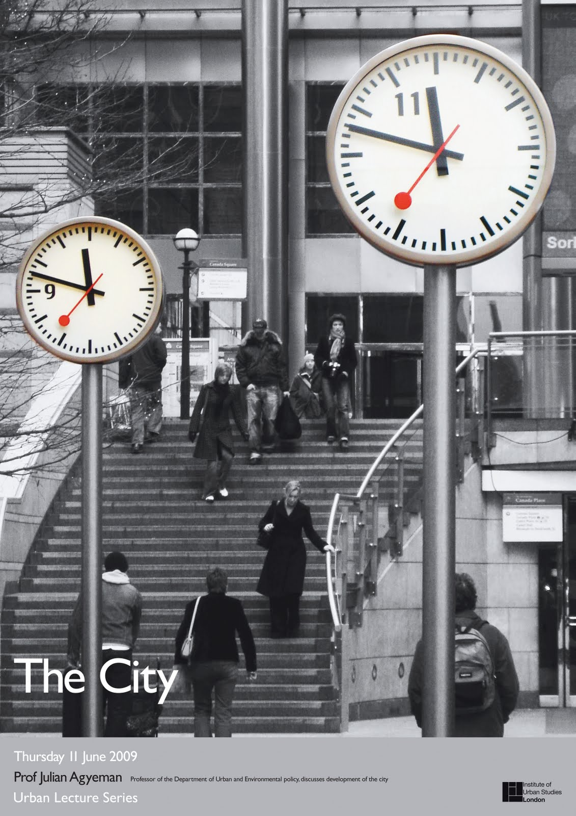 University Project: Urban Lectures – Posters of 4 environments