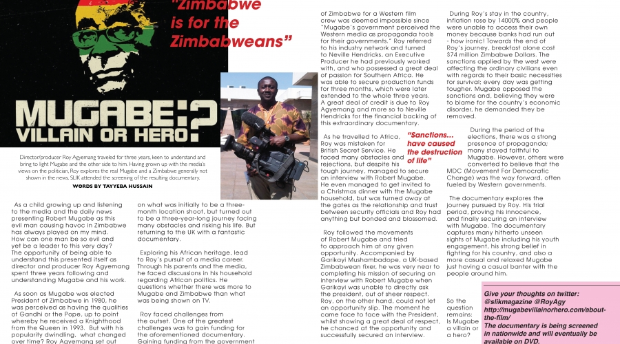 SLIK Magazine: Issue 4 – Stephen Lawrence Instills Knowledge